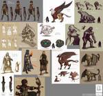 Fantasy Sketchdump (02 04 2017)