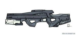 Inktober Day 23 (Trent's Gun) by Tekka-Croe