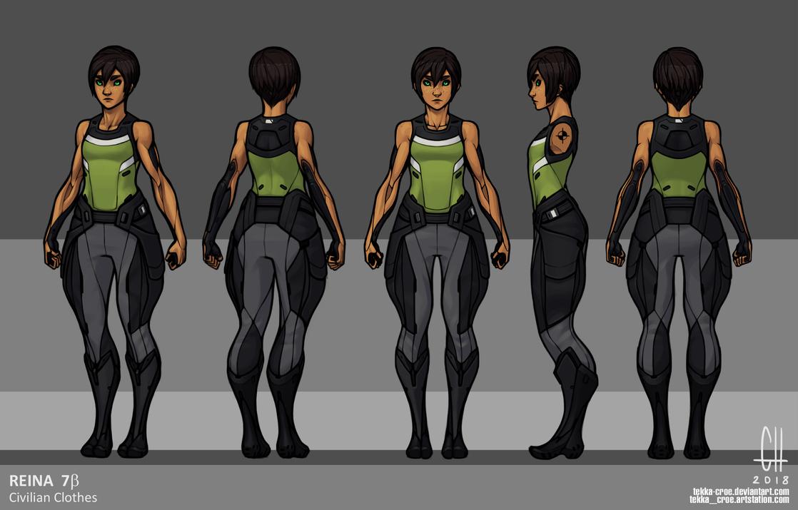 Reina- Civilian Clothing (2018) by Tekka-Croe