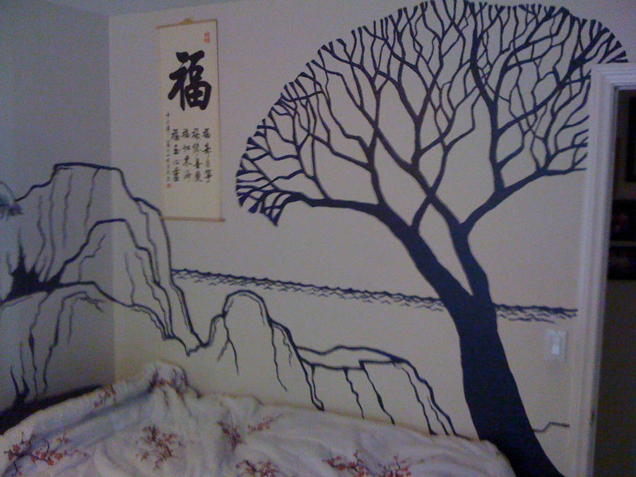 Japanese-themed Bedroom Wall by CelestiaWard on DeviantArt
