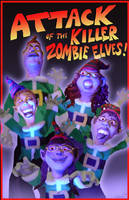 Zombie3-D caricature holiday card by CelestiaWard
