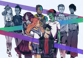 Teen Titans Group by tolytomas