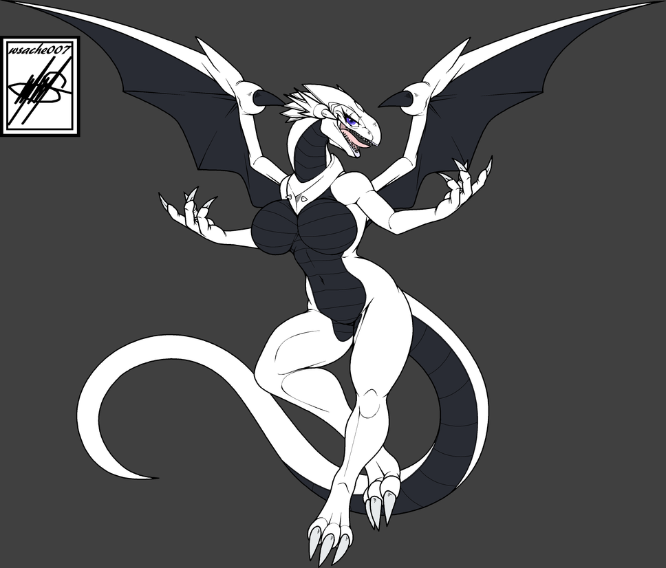 Purple eyes White Dragon Color (credit) by nickanater1