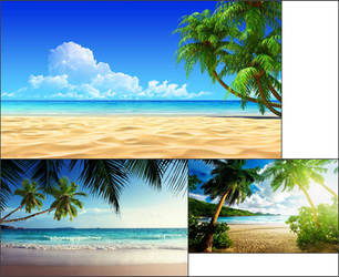 Beach Background 5 by nickanater1