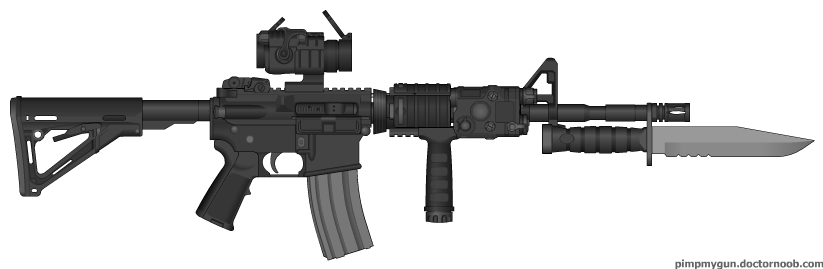 Zombie M4a1 by nickanater1