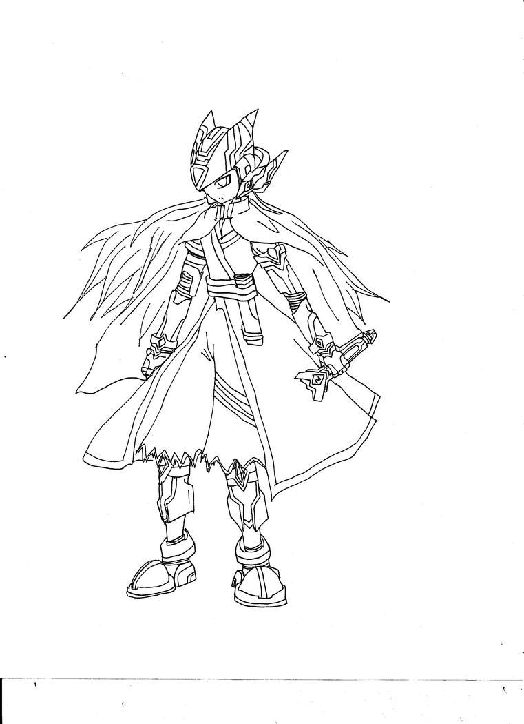 Line Art Zero : Megaman zero bankai line by itsukikoizumi on deviantart