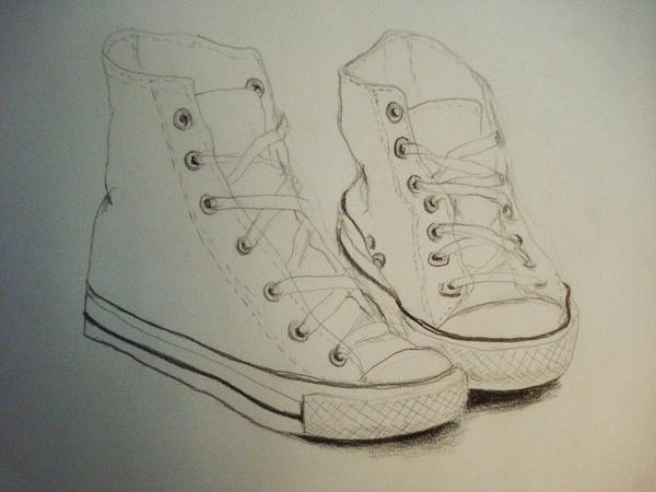Contour Line Drawing Of A Shoe : Contour line study converse 1 by mas0menos on deviantart