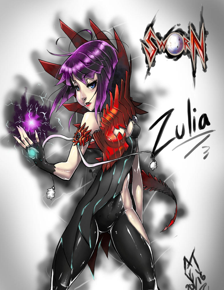 Zulia of the comic sworn by Bigmass1