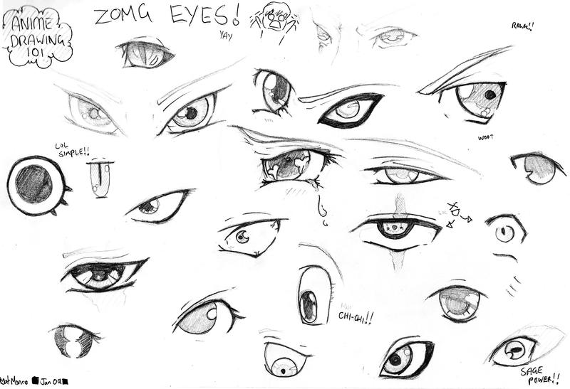 Anime eyes practice by memonik