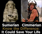 Sumerians vs. Cimmerians by Mike-the-Vector