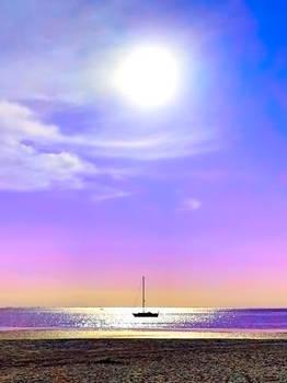 Synthwave Sailboat Sunrise