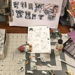 Plastic Model Robot Replication