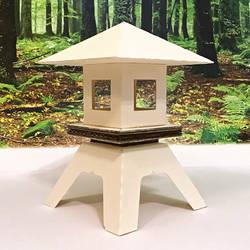 Cardstock Stone Lantern WiP