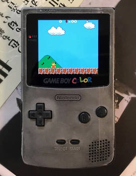 Game Boy Color with Q5 OSD Screen