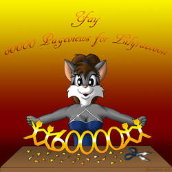 Yay 60000 Pageviews for Lilyraccoon