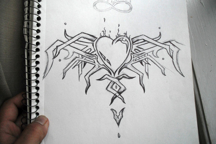 Tribal Heart With Banner Nice Tribal Heart by