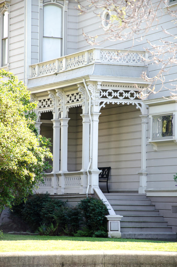 Victorian house side porch by digitalbutterflyy on deviantart for Side porch