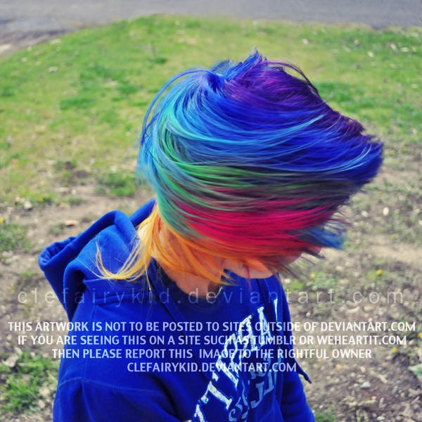 rainbow hair guy  Minecraft Skins