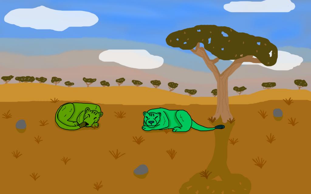 Green Lions by SkrillexWolf777