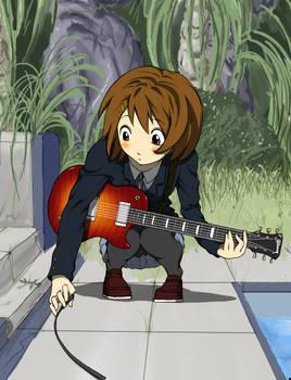 K-ON - Hirasawa Yui Practising