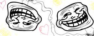 Two trolls in love