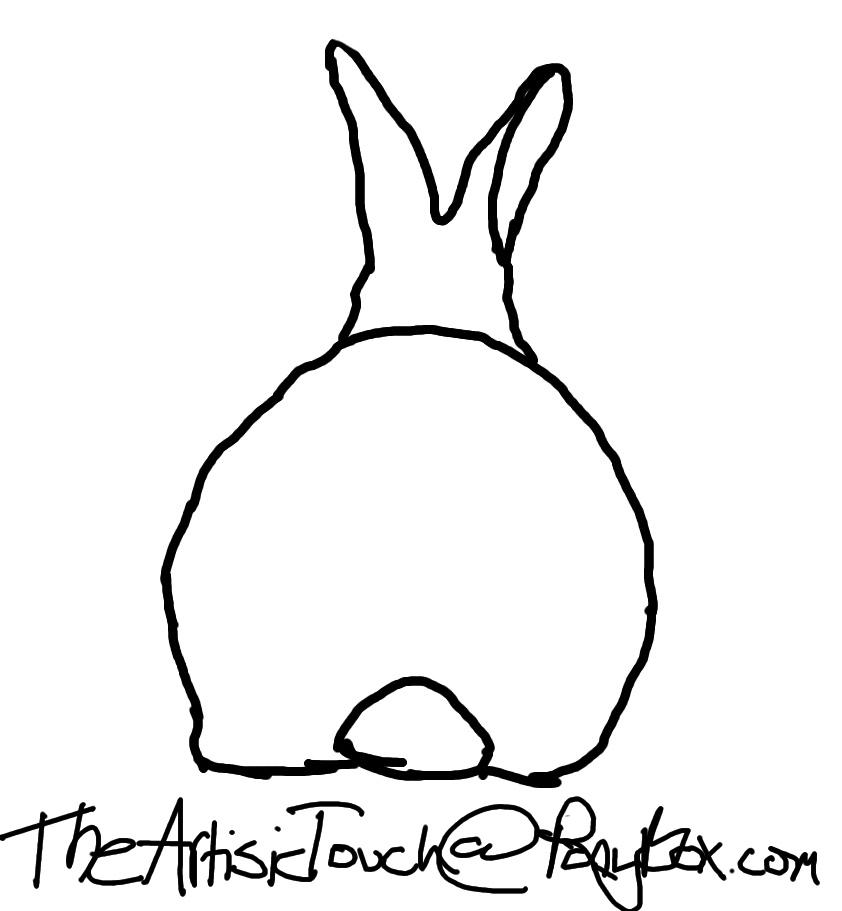 Line Drawing Rabbit : Rabbit line drawing