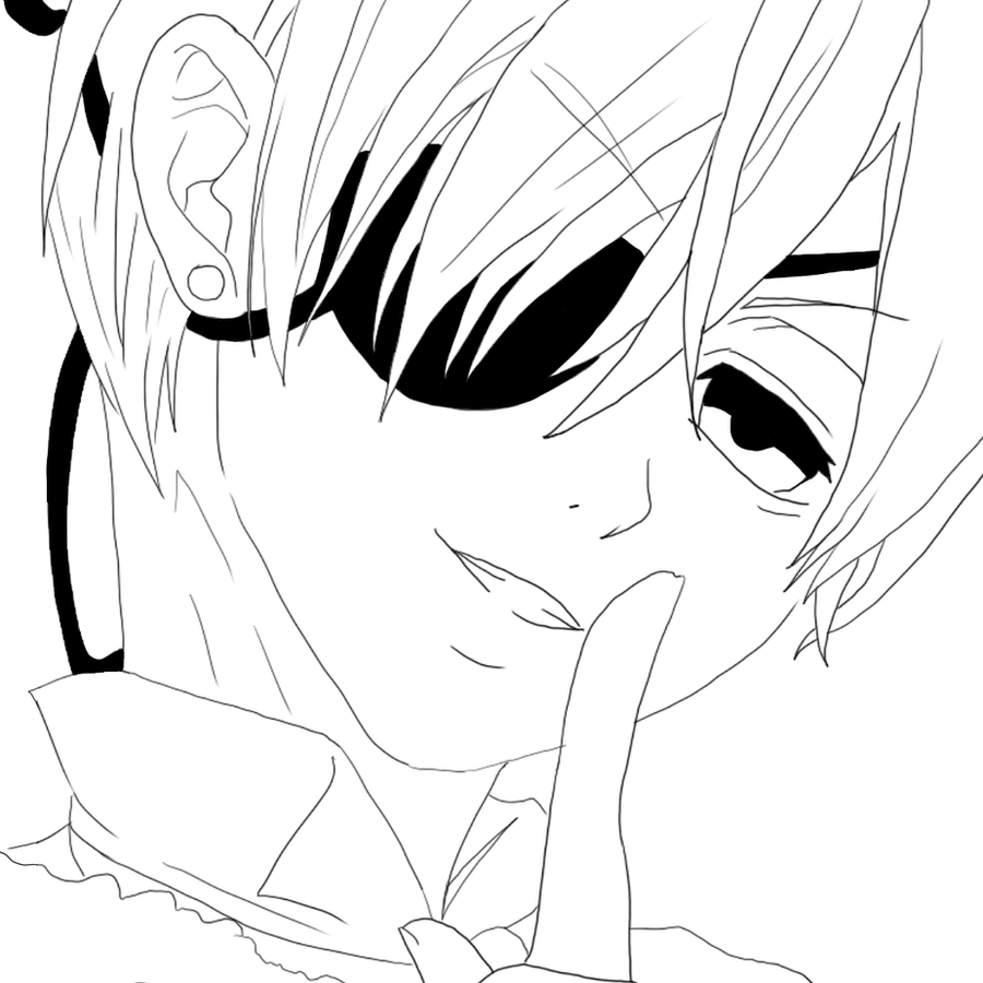 black butler characters coloring pages coloring pages - Black Butler Chibi Coloring Pages