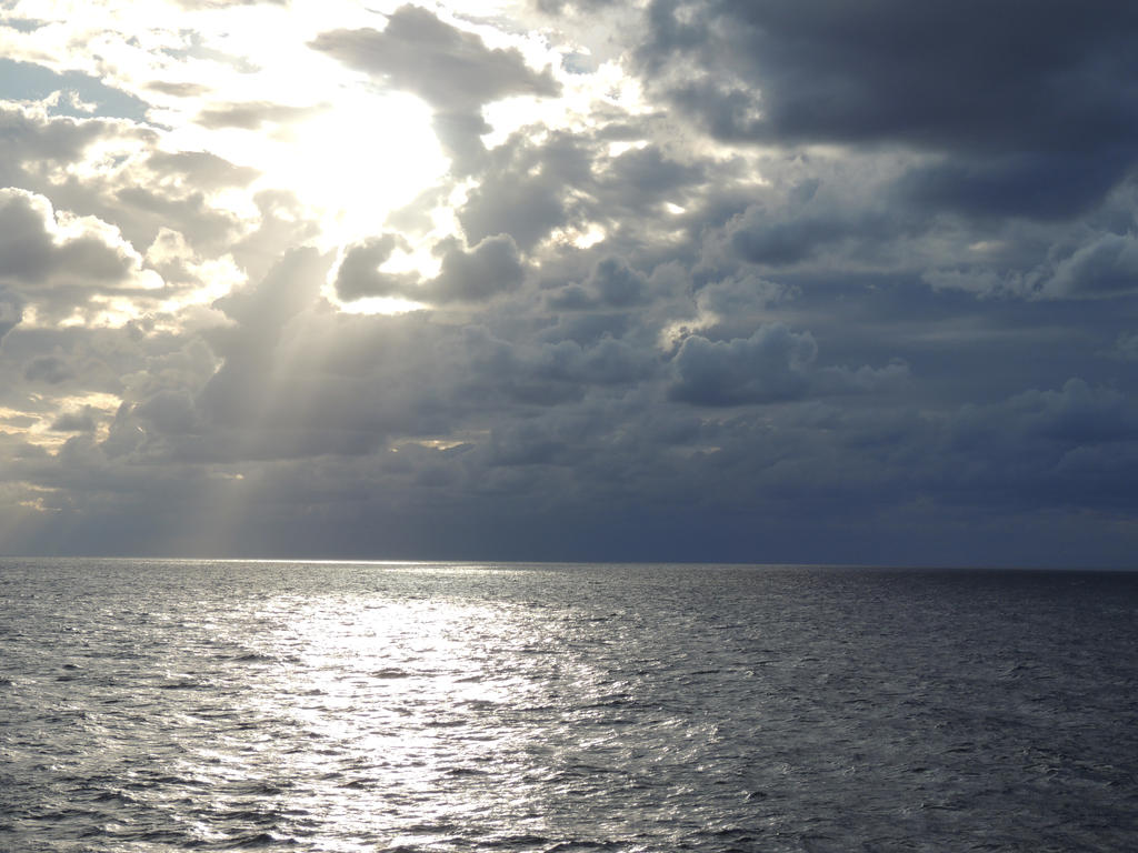 Storm brewing out at sea