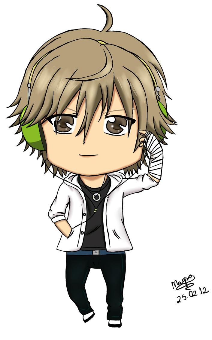 Headphones Chibi Shiraishi Kuranosuke by Mika-chan1102