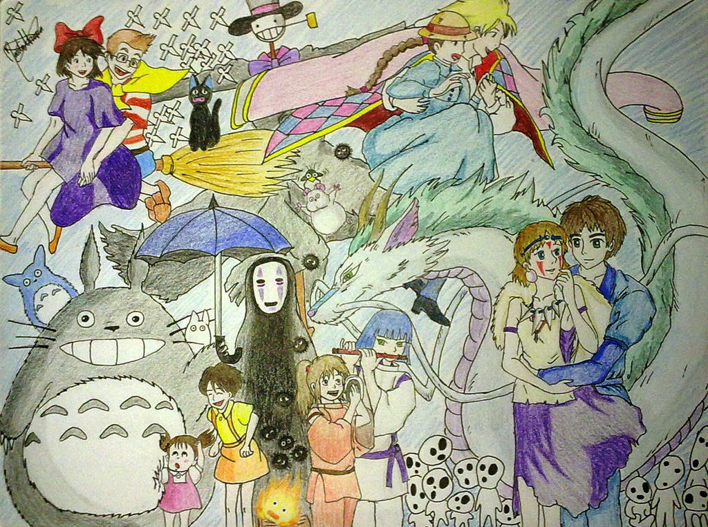 The gallery for --> Studio Ghibli Character Collage