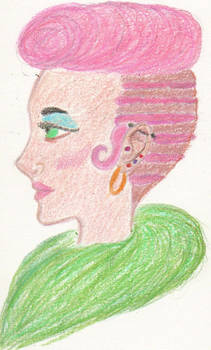 Color Pencil Test 1- Gladys Harlow