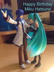 Kaito X Miku: happy birthday miku by MrL3821
