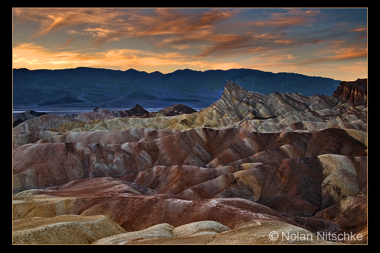 Zabriskie Point Sunset by narmansk8