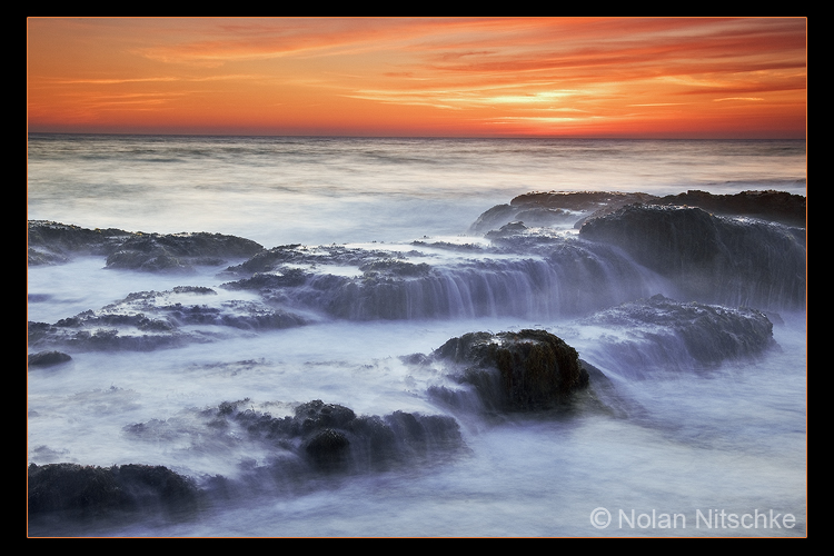 Cambria Coast Sunset by narmansk8