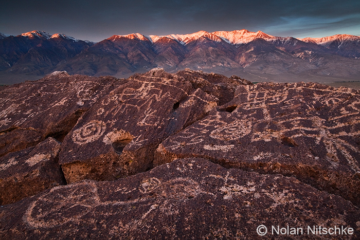 Petroglyphs and White Peak by narmansk8