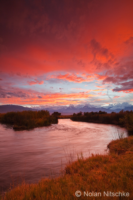 Epic Owens River Sunset by narmansk8