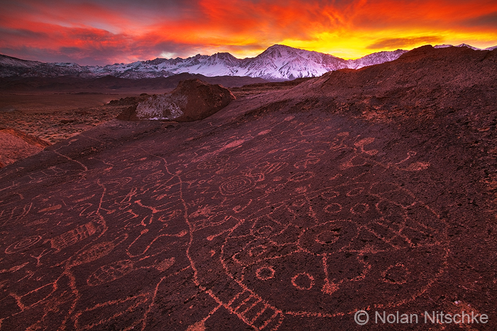 Eastern Sierra Glyph Sunset by narmansk8
