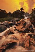Gem Lakes Cascade Sunset by narmansk8