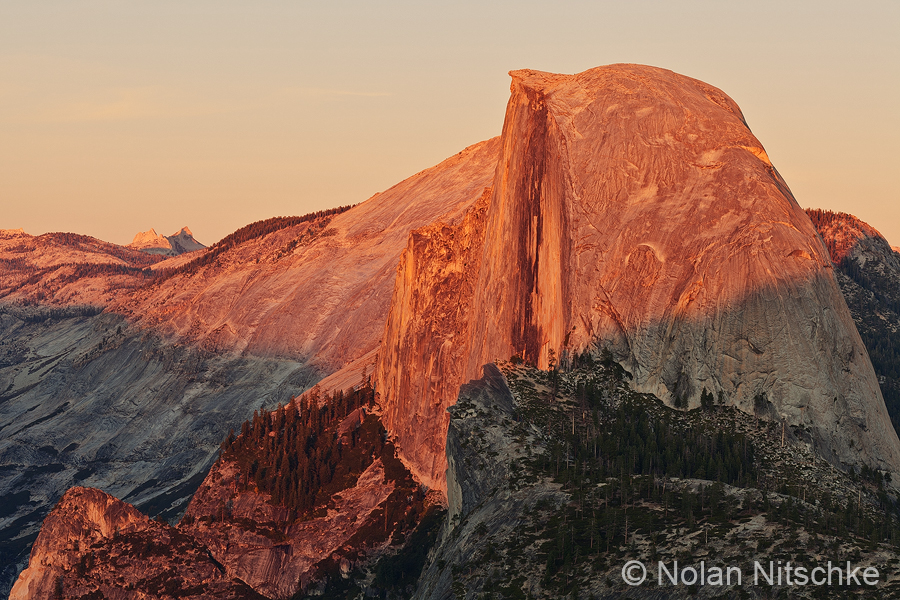 Half Dome Sunset by narmansk8