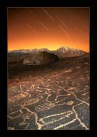 Stars over Paiute Petroglyphs by narmansk8