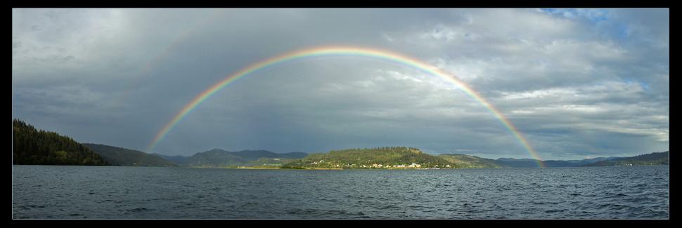 Full Rainbow Coeurdalene Lk. by narmansk8
