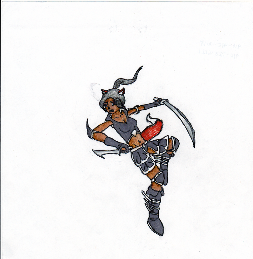 Foxgirl Ninja by BlackArrow14