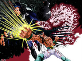 Shiryu VS Black Dragon by Niiii-Link
