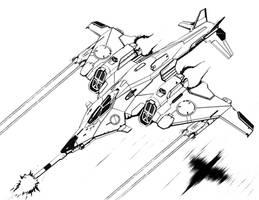 Poignard aerospace fighter by flyingdebris