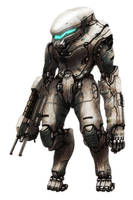 Kris Power Armor, Cthulhutech by flyingdebris