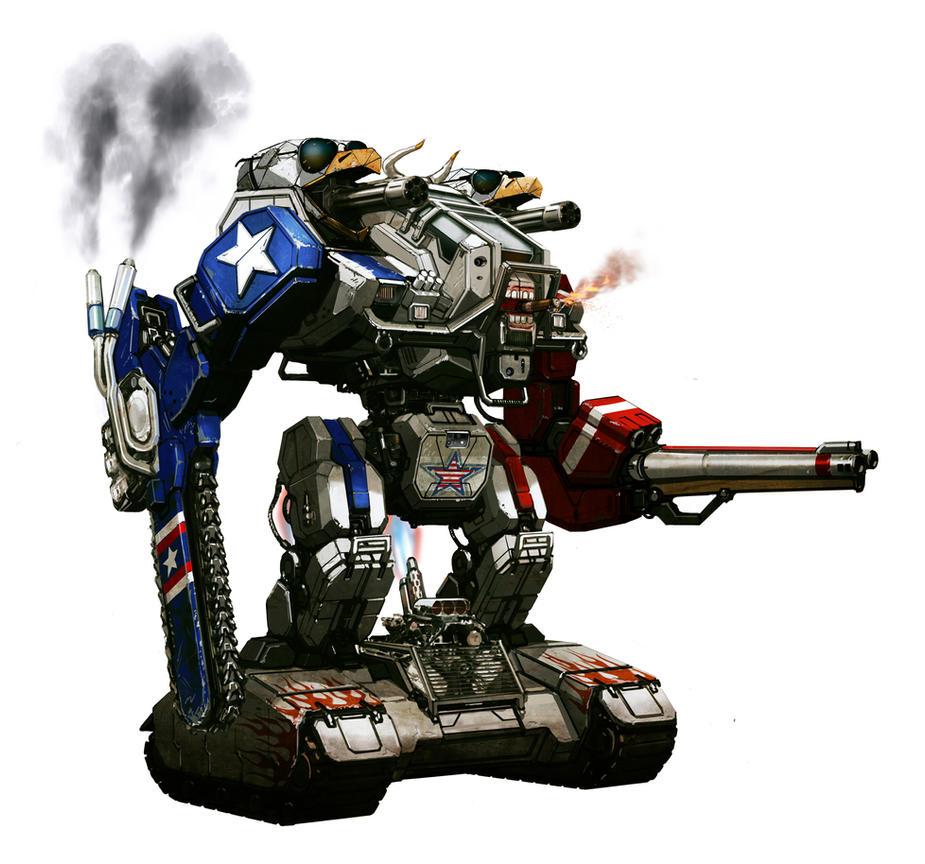 Team USA Megabot concept by flyingdebris