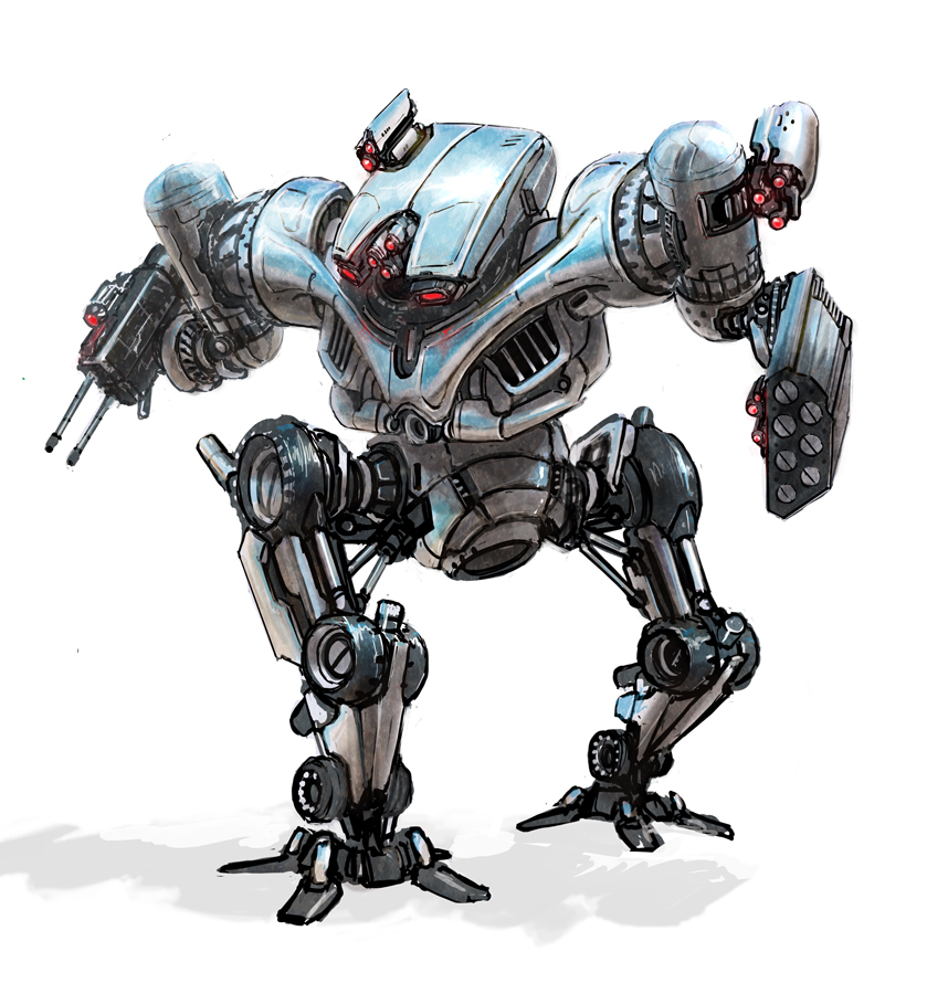 Terminator hunter killer mech by flyingdebris
