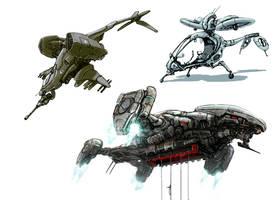 VTOLs by flyingdebris