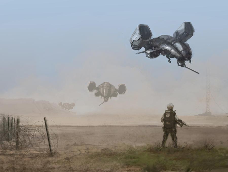 Gunships by flyingdebris