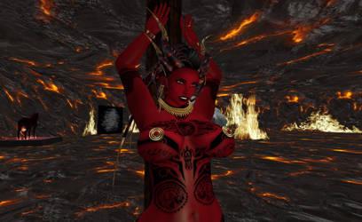 Dressed down Demoness by SkylaMarkova